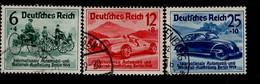 Deutsches Reich 686 - 688 IAA Berlin  Gestempelt Used - Oblitérés