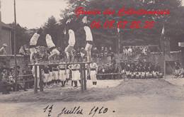 EPINAL : (88) CARTE PHOTO  Gymnastique 17 JUILLET 1910 - Epinal