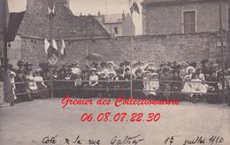 EPINAL : (88) CARTE PHOTO  Gymnastique 17 JUILLET 1910 (autre Vue) Côté La Rue Galtier - Epinal