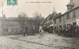 Firmi - Firmy - Un Coin De La Place Du Village - Hôtel Du Nord - Café Du Centre ALAZARD - Firmi