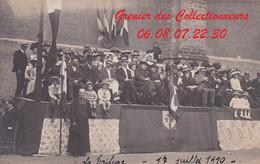 EPINAL : (88) CARTE PHOTO  Gymnastique 17 JUILLET 1910 (autre Vue) La Tribune - Epinal