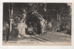 88 VOSGES - CP ANIMEE GERARDMER - LE TUNNEL DE RETOURNEMER - TRAMWAY - LL N° 120 - ECRITE EN 1915 - Gerardmer
