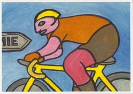 Cpm 1741/717 ERGON - Homme à Bicyclette - Vélo - Cyclisme - Bicycle - Illustrateur - Peintre - Ergon