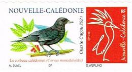 Nouvelle Caledonie Caledonia Timbre Personnalise A Moi Autocollant Prive Bunel Et Cagou 2021 Oiseau Corbeau Neuf Unc - Neufs