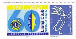 Nouvelle Caledonie Caledonia Timbre Personnalise A Moi Autocollant Prive Lions Club Noumea Doyen 2021 VARIETE Sous -CA R - Neufs
