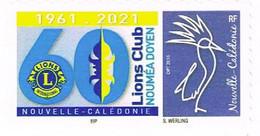 Nouvelle Caledonie Caledonia Timbre Personnalise A Moi Autocollant Prive Lions Club Noumea Doyen 2021 Unc IEP Sous CALED - Neufs