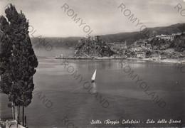 CARTOLINA  SCILLA,REGGIO CALABRIA,CALABRIA,LIDO DELLE SIRENE,CULTURA,BELLA ITALIA,MEMORIA,IMPERO,VIAGGIATA - Reggio Calabria