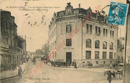 03.  MONTLUCON . Vue Du Nouvel Hôtel Des Postes Et Du Boulevard Des Courtais . - Montlucon