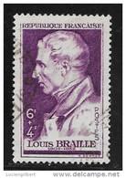 N° 793  FRANCE OBLITERE -  LOUIS BRAYE  -  1948 - Usados