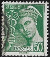 N° 414 B  FRANCE  -  TYPE MERCURE  -  OBLITERE  -  1938  /  1941 - Usados