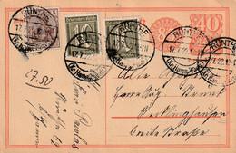 Postkarte Ganzsache Deutsches Reich Rünthe Vom 17.7.1922 - Gebruikt