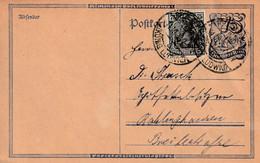 Postkarte Ganzsache Deutsches Reich Recklinghausen König Ludwig 11.10.1922 - Gebruikt