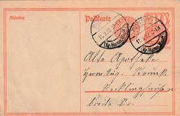 Postkarte Ganzsache Deutsches Reich Rünthe Vom 11.9.1922 - Gebruikt