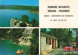 04 Esparron De Verdon Carte Multi Vues Domaine Naturiste Homme Nu Femme Nue Nus Naturisme - Autres Communes