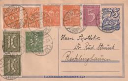 Postkarte Ganzsache Deutsches Reich Datteln Vom 10.1.1923 - Gebruikt
