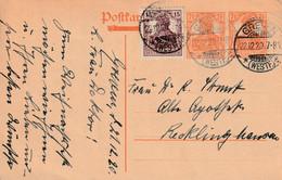 Postkarte Ganzsache Deutsches Reich Greven Vom 22.12.1920 - Gebruikt