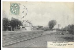 33-ST-ANDRE-DE-CUBZAC- La Gare De L'Etat...1906 - Other Municipalities