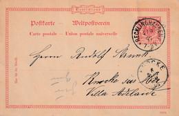 Postkarte Ganzsache Deutsches Reich Recklinghausen Vom 4.9.1895 - Gebruikt
