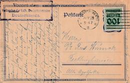 Postkarte Ganzsache Deutsches Reich Münster Vom 26.9.1923 - Gebruikt