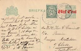 Postkarte Ganzsache Niederlande Boxmeer Vom 6.5.1921 - Gebruikt