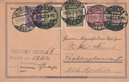 Postkarte Ganzsache Deutsches Reich Münster Vom 16.10.1922 - Gebruikt