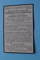 DP Petronella Van HOOYDONCK ( Oostvogels ) Zundert 5 Feb 1860 - Esschen 23 Dec 1930 ( Zie Foto's ) ! - Todesanzeige