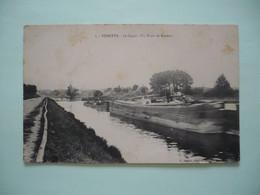 60 -  VENETTE - LE CANAL - UN TRAIN DE PENICHES - Venette