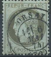 [41191]TB//O/Used-N° 50, 1c Vert-olive, TB Obl C.à.d Type 17 'Orsay' Le 6 Mai 1874 - 1871-1875 Ceres