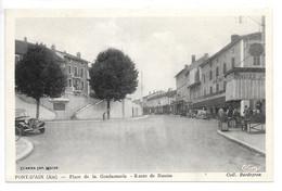 Cpa...Pont-d'Ain...(Ain)...place De La Gendarmerie...route De Nantua...animée...( Citroen . Traction)...1939... - Altri Comuni