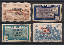 Togo - 1941 - N°Yv. 211 à 214 - Série Complète Secours National - Neuf * / MH VF - Unused Stamps
