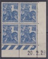 N° 257 Jeanne D'Arc Coin Daté 20.2.29 Neuf ** - ....-1929