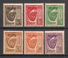 Togo - 1942-44 - Taxe TT N°Yv. 32 à 37 - Série Complète - Neuf * / MH VF - Neufs