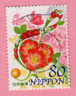 "2010 GIAPPONE Fiori Flowers Farfalle ""G Clef"" By Arai Sonoko - 80 Y Usato - Usati"