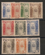 Togo - 1947 - Taxe TT N°Yv. 38 à 47 - Série Complète - Neuf * / MH VF - Unused Stamps