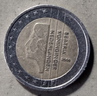 2000 - PAESI BASSI   - MONETA IN EURO - DEL VALORE DI  2,00 EURO  - USATA - Niederlande