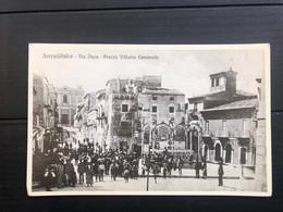 SERRADIFALCO ( CALTANISSETTA ) VIA DUCA PIAZZA VITTORIO EMANUELE 1927 RIPRODUZIONE - Caltanissetta