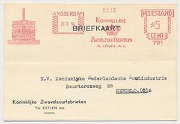 Meter Card Netherlands 1941 Sulfuric Acid Factory - Other