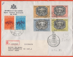 SAN MARINO - 1972 - Europa Cept + Allegorie Di San Marino - FDC - Ufficio Filatelico Governativo - RACCOMANDATA - FDC
