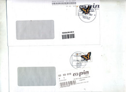 Lettre Poste Privee Pin Vignette Papillon Cachet Berlin - Machine Stamps (ATM)