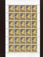 Belgie 1963 1242 PEACE BELL CLOCK PAX Volledig Vel FULL SHEET MNH PLAATNUMMER 3 OCB 27€ - Feuilles Complètes