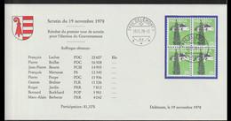 Switzerland Cover 1978 Delemont Resultat Du Premier Tour De Scrutin Pour L'election Du Gouvernement (LF34) - Briefe U. Dokumente