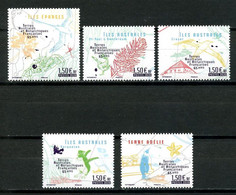 TAAF 2020  N° 953/957 ** Neufs MNH Superbes Districts Iles Eparses Crozet Faune Oiseaux Birds Manchots Flore - Neufs