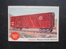 Trading Card - Chromo TOPPS RAILS & SAILS 1955 (V2105) STOCK CAR (2 Vues) MISSOURI Pacific Railroad N°11 - Motori