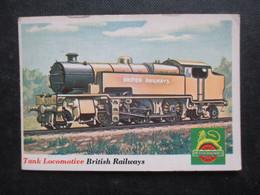 Trading Card - Chromo TOPPS RAILS & SAILS 1955 (V2105) TANK LOCOMOTIVE (2 Vues) BRITISH RAILWAYS N°19 - Motori