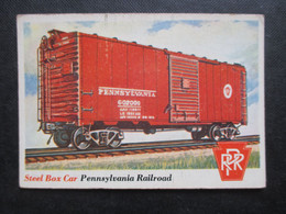 Trading Card - Chromo TOPPS RAILS & SAILS 1955 (V2105) STEEL BOX CAR (2 Vues) PENNSYLVANIA RAILROAD N°20 - Motori