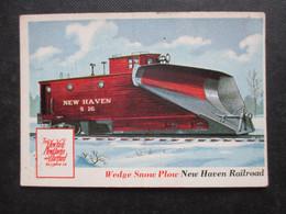 Trading Card - Chromo TOPPS RAILS & SAILS 1955 (V2105) WEDGE SNOW PLOW (2 Vues) NEW HAVEN RAILROAD N°31 - Motori
