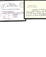 René Coty, Taxe - Visitenkarten