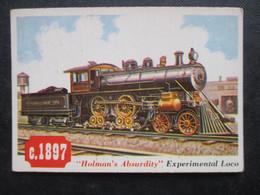 "Trading Card - Chromo TOPPS RAILS & SAILS 1955 (V2105) ""HOLMAN'S ABSURDITY"" (2 Vues) EXPERIMENTAL LOCO N°40 - Motori"