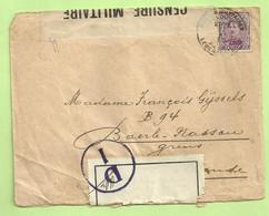 140 Op Brief PMB 27/12/16 -> Baerle-Nassau, CENSURE 29+Nederlande Censuur GEOPEND +stempel D1 (Rare Censuur !!)(B3054) - Belgisch Leger