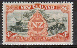 New Zealand 19486 single 4d  Stamp From The Set Issued To Celebrate Peace In Mounted Mint. - Unused Stamps